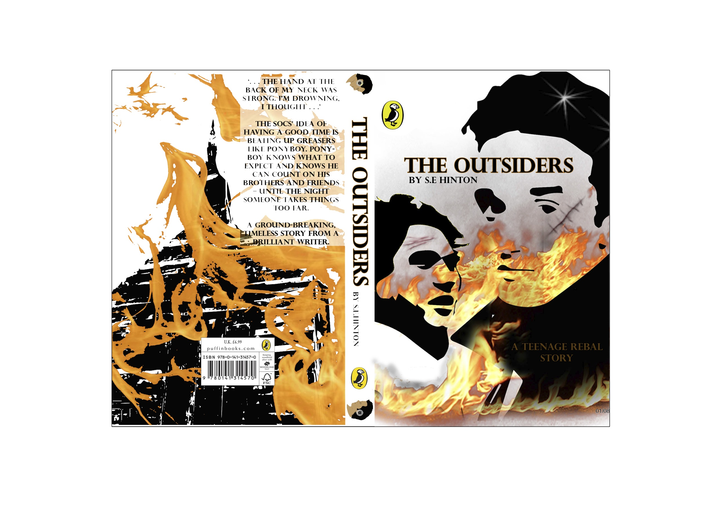 The Outsiders Book Cover Pictures ~ The outsiders book cover dwight leiba graphic design