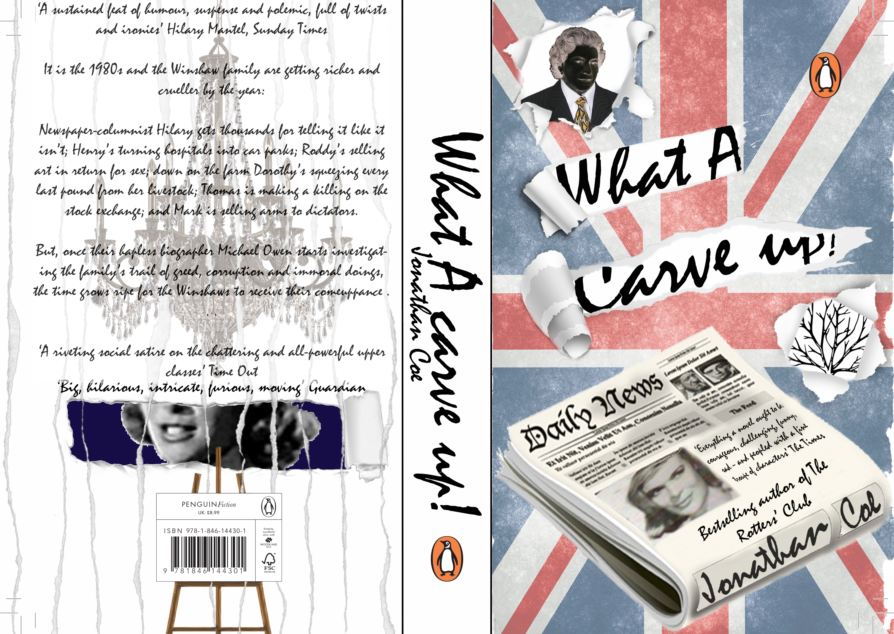 Penguin Book Cover Competition Template ~ What a carve up book cover dwight leiba graphic design